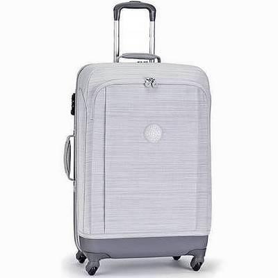 מזוודה חזקה מעוצבת קיפלינג סופר הייבריד בינונית אפור פסים