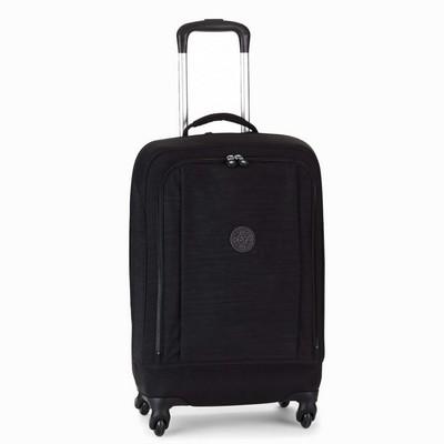 מזוודה חזקה מעוצבת קיפלינג סופר הייבריד עליה למטוס שחור סגול פסים
