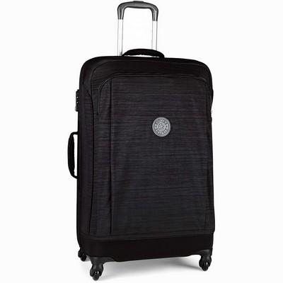 מזוודה חזקה מעוצבת קיפלינג סופר הייבריד בינונית שחור סגול פסים