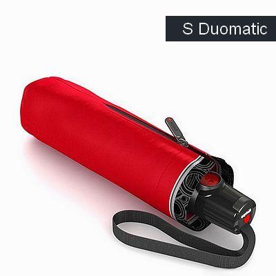 מטריות קנירפס מטרייה בינונית קטנה פתיחה סגירה אוטו' אדום קצה אפור