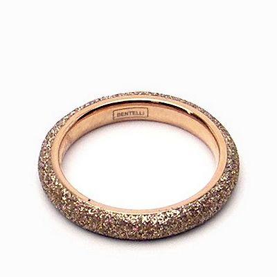 טבעת זהב רינג נירו שבבי מינרל זהב