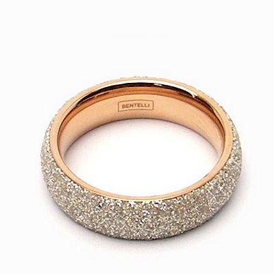טבעת זהב רינג מדיום שבבי מינרל לבן