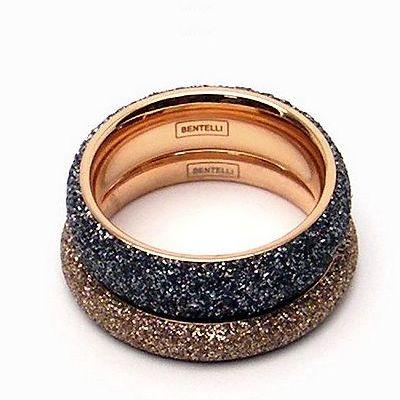 טבעת זהב רינג מדיום אפור נירו זהב