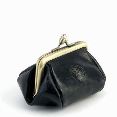 ארנק נשים לכסף קטן מנעול קטן שחור