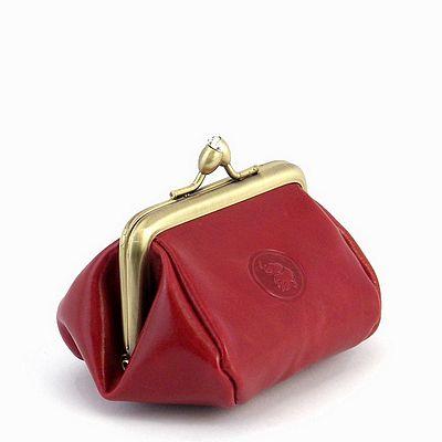 ארנק נשים לכסף קטן מנעול קטן אדום