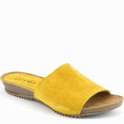 כפכף נוחות גויה קומפורט צהוב חרדל