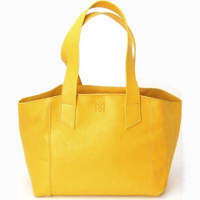 תיק לנשים נאפה אקססוריז אוניל צהוב