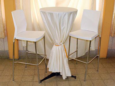 שולחן בר פלטה קוטר 0.60 גובה 1.10