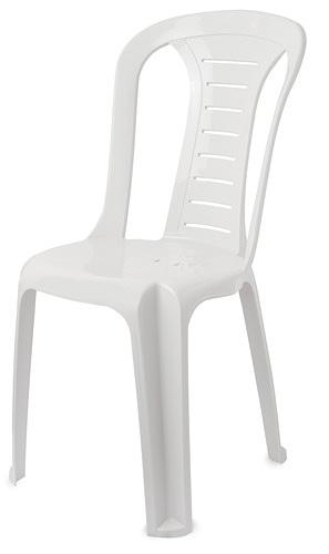 כיסא פלסטיק לבן - white plastic chair