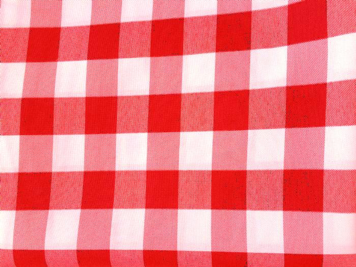 מפה מרובעת 3x3 - משובץ אדום לבן