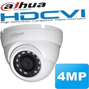 """מצלמת כיפה אינפרה HDCVI רזולוציה 4MP/1520P עדשה 3.6 מ""""מ WDR מלא תוצרת dahua"""