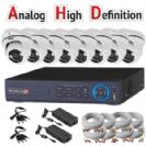 מערכת אבטחה מושלמת AHD כולל 8  מצלמות אבטחה כיפה אינפרא 2MP-Lite  מבוסס dvr provision