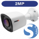 """מצלמת צינור אינפרא IP רזולוציה 2MP עדשה 3.6 מ""""מ 30 לדים כולל PoE"""
