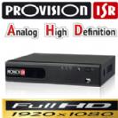 Dvr Provision AHD 4100 מערכת הקלטה עצמאית רזולוציה 1080P Lite דיסק 500G, הקלטה בזמן תנועה, אפשרות צפייה מרחוק כולל סלולרי, עכבר שלט, עברית