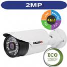 """מצלמת צינור אינפרה 2MP סדרה Eco עדשה משתנה 2.8-12 מ""""מ 4in1 תוצרת Provision"""