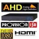 מערכת הקלטה Provision היברידי 4 מצלמות אבטחה AHD 1080P/2MP כולל 1 IP דיסק 1TB הקלטה בזמן תנועה, אפשרות צפייה מרחוק כולל טלפונים, עכבר ושלט