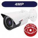 """מצלמת צינור אינפרא IP ברזולוציה 4M עדשה משתנה 2.8-12 מ""""מ תומך POE  כולל WDR כניסת אודיו, תומך כרטיס זכרון"""