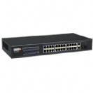"""סוויץ 24 ערוצים PoE 10/100 המאפשר העבת מתח על כבל הרשת בנוסף 2 ערוצי Uplink במהירות 1Gps או 2 Sft סה""""כ 370W"""