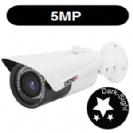 """מצלמת צינור אינפרה IP אנטי וונדל 5M עדשה משתנה 2.8-12 מ""""מ תומך POE  כולל WDR , אודיו דו כיווני H.265"""