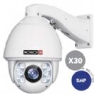 """מצלמה ממונעת IP זום כפול 30 רזולוציה 2MP עדשה 4-129 מ""""מ לדים אינפרה 150 מטר, אודיו דו כיווני"""