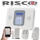 קיט מערכת אזעקה אלחוטית ריסקו קומפקט כולל מודם סלולרי 3G וכרטיס SIM גלאי נפח גלאי מגנט ושלט