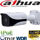 """מצלמת צינור אינפרא IP רזולוציה FullHD 2MP עדשה 3.6 מ""""מ כולל WDR"""