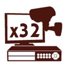 NVR ל 32 מצלמות אבטחה