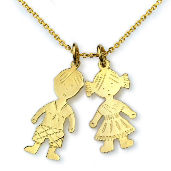 תליון ילד זהב צהוב 14 קראט