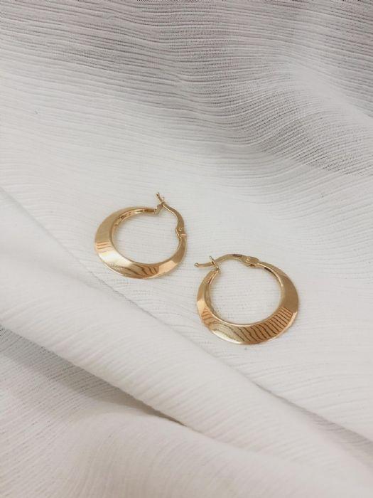 עגילי חישוק זהב חלקים