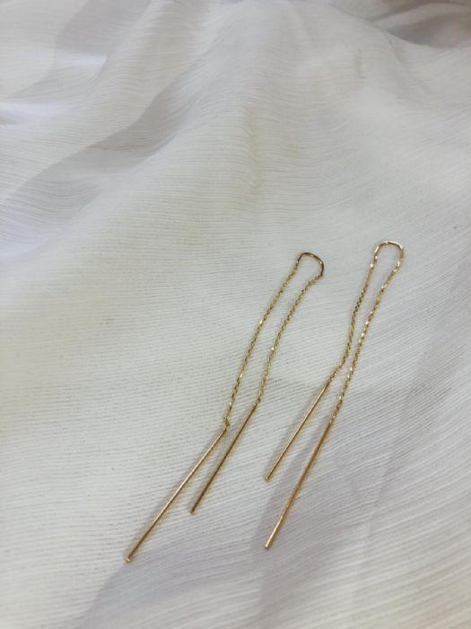 עגילי זהב ארוכים מיוחדים
