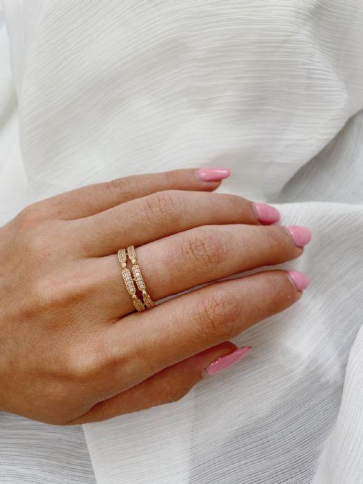 טבעת ROSE GOLD יהלומים