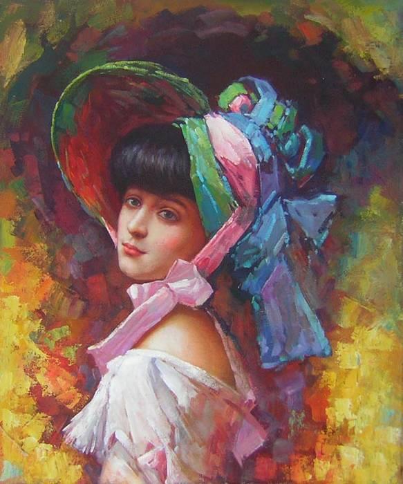 נערה עם הכובע