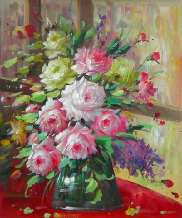 ציור פרחים