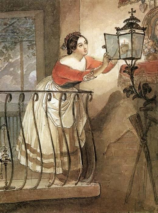 אישה איטלקיה מדליקה אור