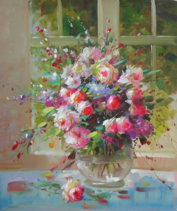 אגרטל של ורדים