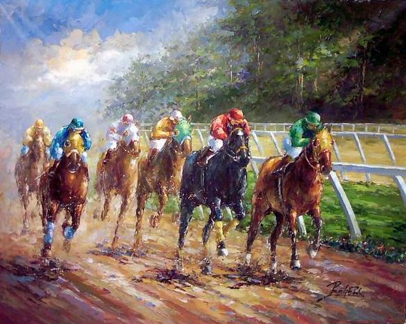ציור סוסים