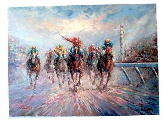תמונות סוסים במירוץ