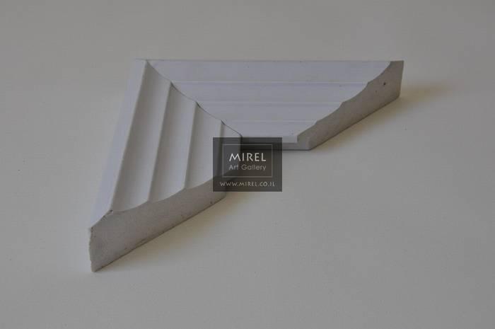 מסגרת בצבע לבן מדורג מודרני