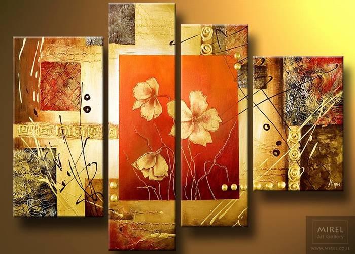 ציור פרחים דקורטיבי