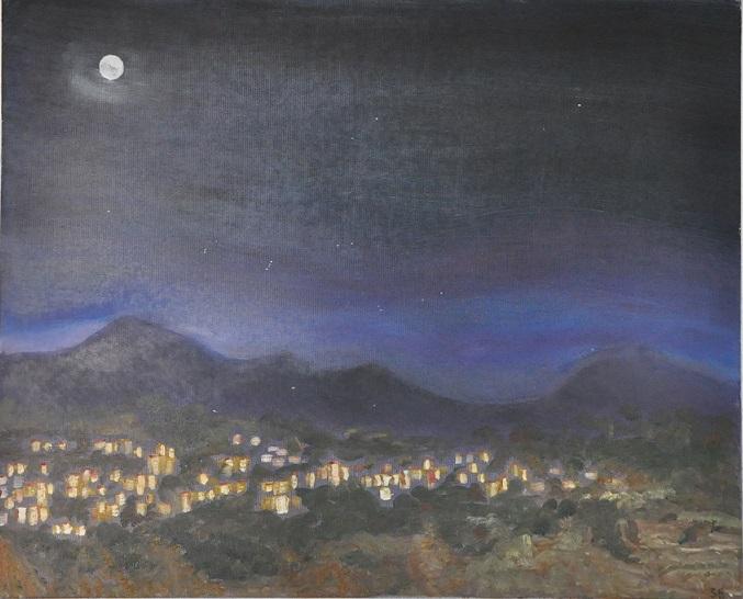 כפר בעמק Village in the Valley at night