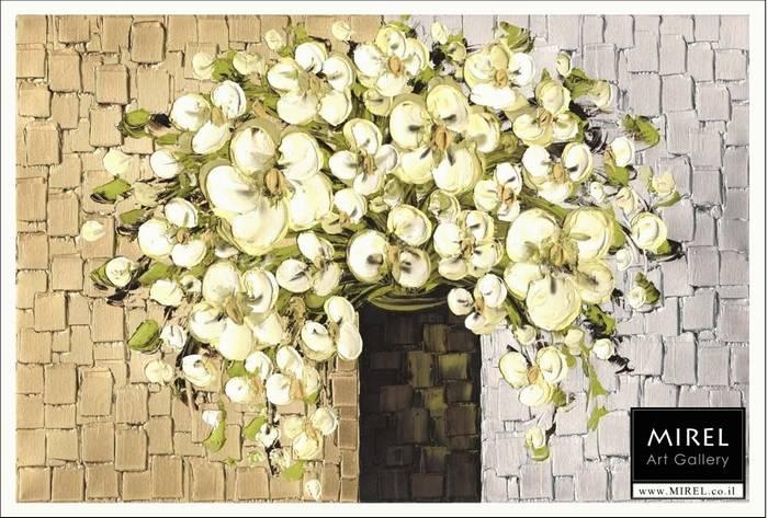 פרחים לבנים מודרניים