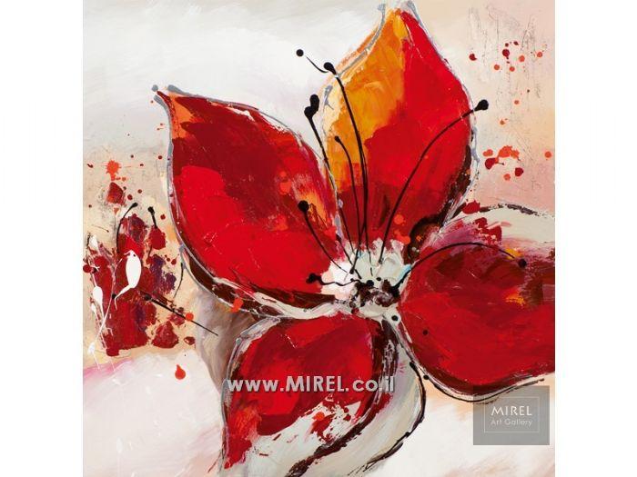 פרח אדום מודרני