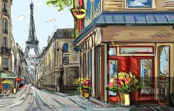 ציור אוירה פריז