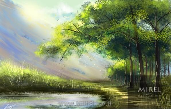 ציור נוף יפה