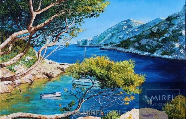 ציור נוף קיץ