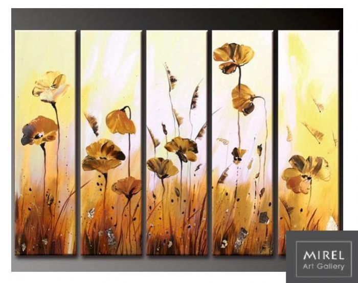 ציור מודרני פרחים
