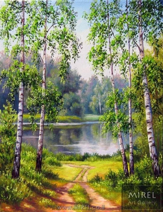 ציור נוף רומנטי