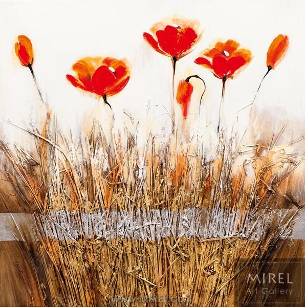 ציור אוירה פרחים