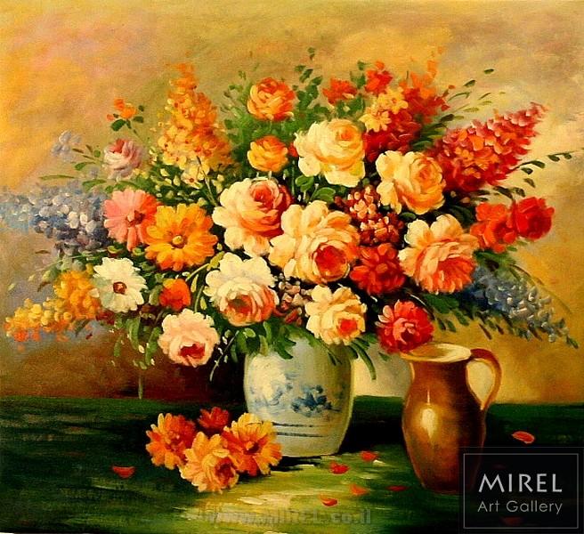 זר פרחים כתומים