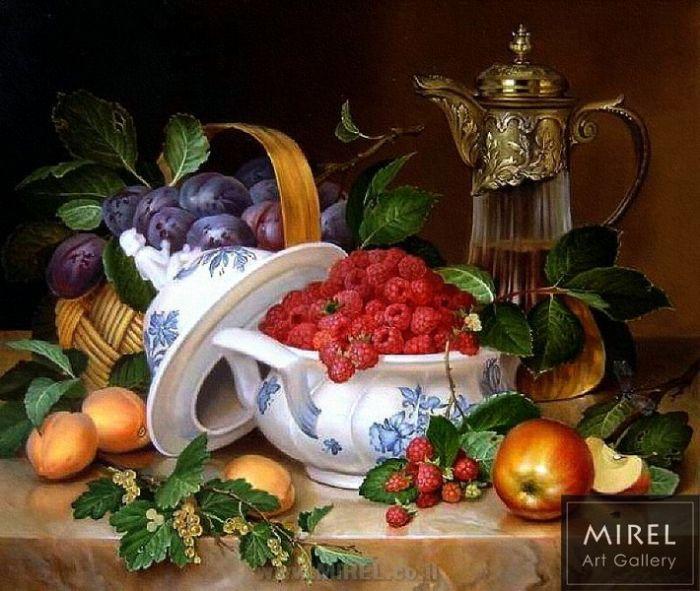 ציור שמן פירות
